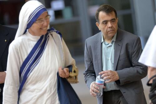 Marcilio Haddad Andrino assieme a una suora