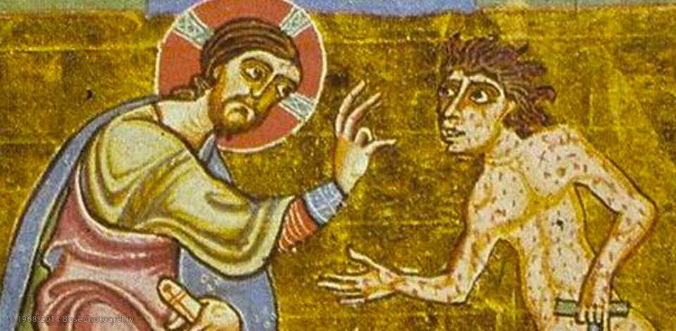Cristo e il lebbroso, miniatura medievale.jpg