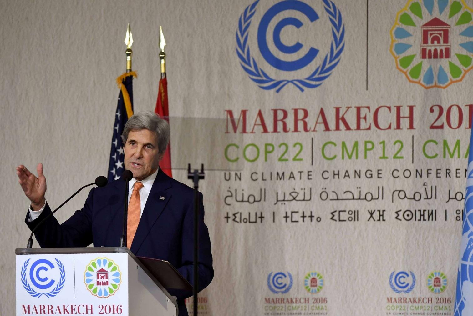 L'intervento del segretario di Stato americano John Kerry (LaPresse).jpg