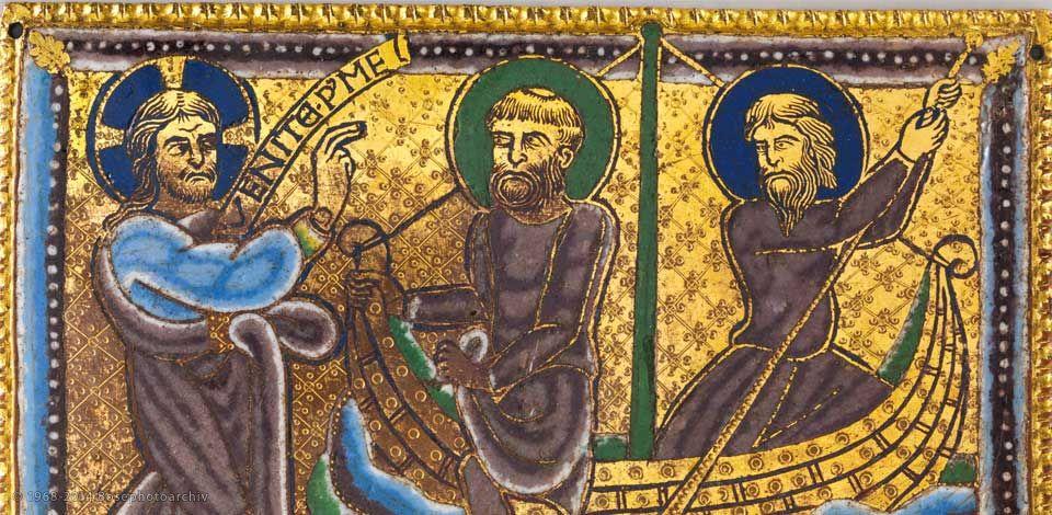chiamata-di-pietro-e-andrea-champleve-su-rame-dorato-1160-80-circa-metropolitan-museum-new-york