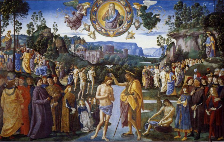 Perugino, Battesimo del Signore, Cappella Sistina, Città del Vaticano.jpg