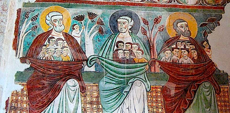 Pittore Abruzzese, Serie di Patriarchi, Chiesa di Santa Maria ad Cryptas, tra il 1264 e il 1283, Fossa (L'Aquila)..jpg