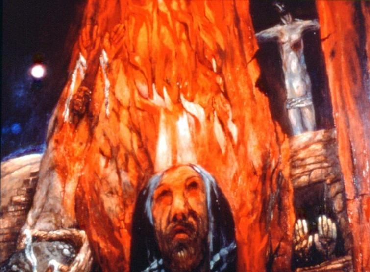 Sieger Köder Mosè e il roveto ardente.jpg