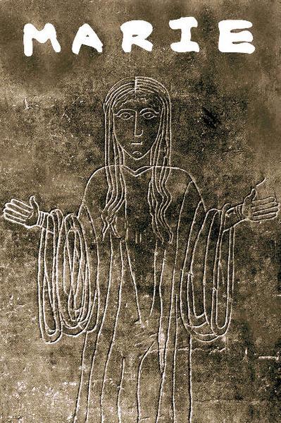 Un très ancien visage de la Vierge., celui d_une plaque gravée au cinquième siècle en Provence,