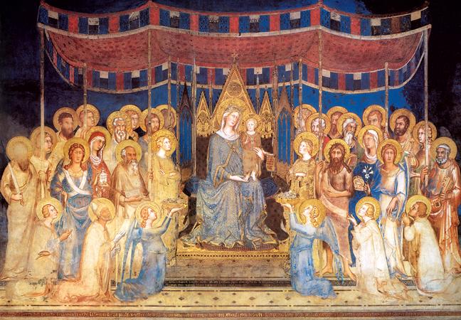 Simone Martini concluse la Maestà nel 1315.