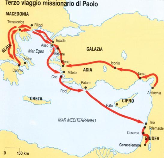 terzo viaggio missionario Paolo