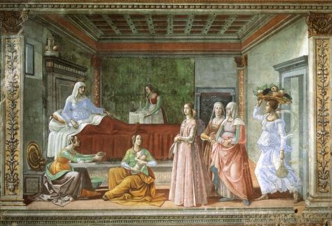 Domenico Ghirlandaio, La nascita di San Giovanni Battista