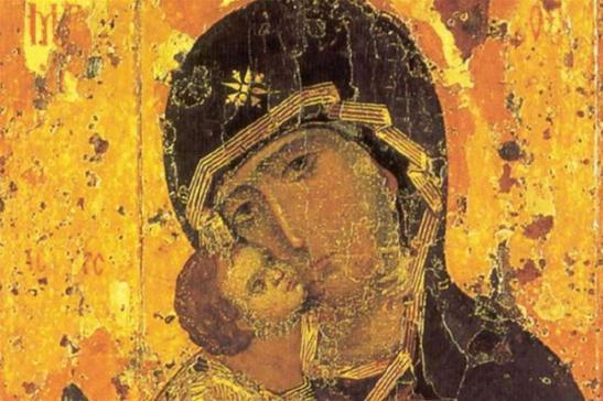 L_icona della Madre di Dio di Vladimir oggi conservata nella Galleria Tret_jakov di Mosca