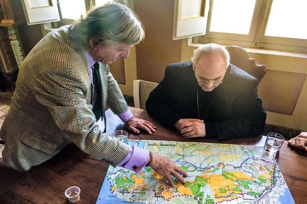Martin von Hildebrand explicando el Corredor