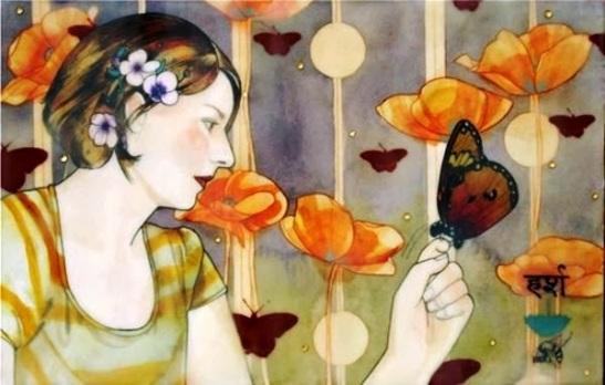 Donna-con-farfalle