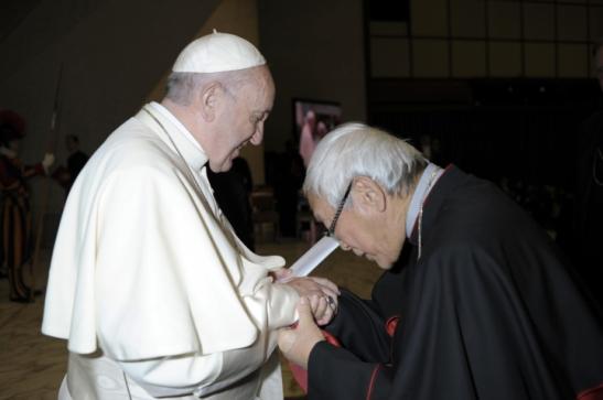 Il Papa con il cardinale Zen