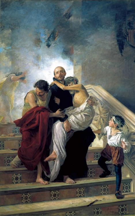 Manuel_Gómez-Moreno_González._San_Juan_de_Dios_salvando_a_los_enfermos_de_incendio_del_Hospital_Real_(1880)