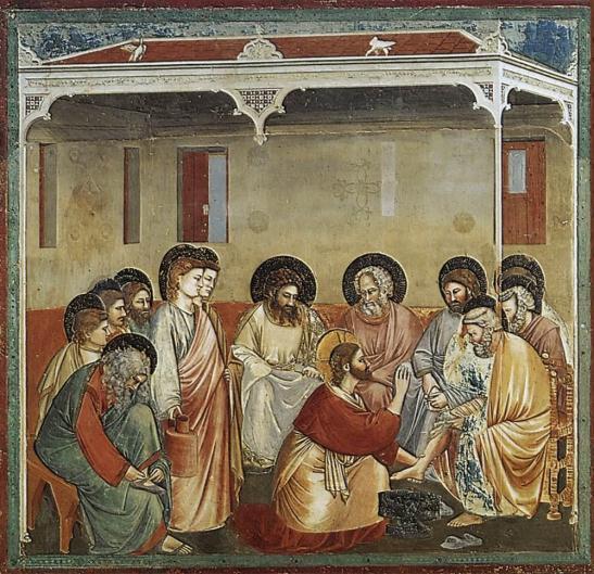 Padova, Cappella degli Scrovegni, Giotto - Lavanda dei piedi