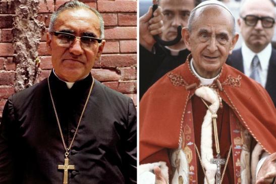 Paolo VI e Oscar Romero