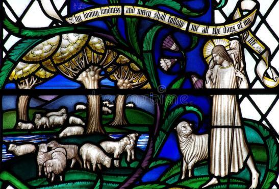jesus-christ-o-bom-pastor-com-os-carneiros-no-vitral-59977342