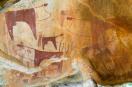 Cave paintings at Laas Geel