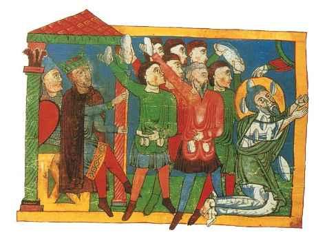 La lapidazione di geremia xi secolo firenze biblioteca medicea