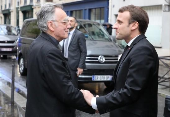 Mgr-Pontier-Emmanuel-Macron-9-avril