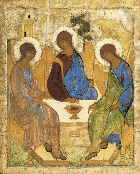 Santíssima Trindade de Andrei Rublev, 1410.