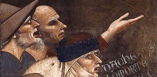 BUFFALMACCO, Bounamico, Trionfo della morte (dettaglio), 1335-40, affresco, Camposanto, Pisa