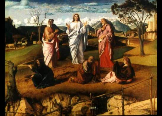 Giovanni Bellini, La Trasfigurazione, Napoli, Galleria Nazionale di Capodimonte