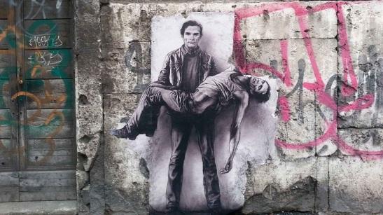 Pietà Pasolini, di Ernest Pignon-Ernest