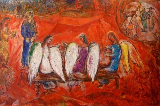 Abramo E I TRE ANGELI, Marc Chagall