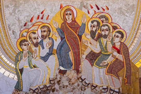 Religious christian mosaics in Ta Pinu, Malta