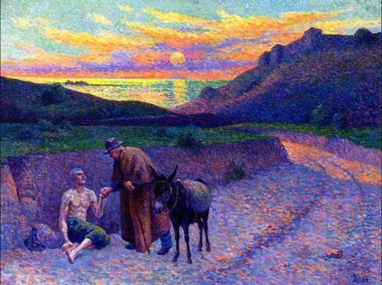 Maximilien Luce(1858ー1941)The Good Samaritan