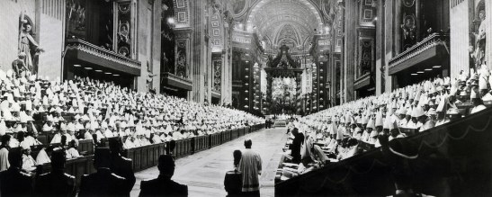 PANORAMIC VIEW OF OPENING SESSION OF SECOND VATICAN COUNCIL