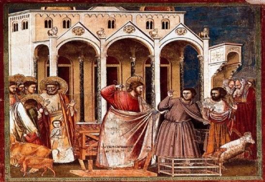 Gesù caccia via i venditori dal tempio (Giotto)