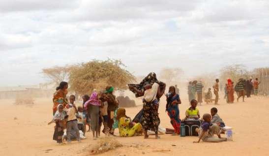 Africa in ginocchio