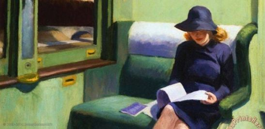 Edward Hopper, Compartment C Car, 1938.
