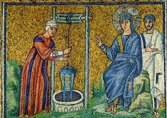 La donna pozzo e sorgente d'acqua