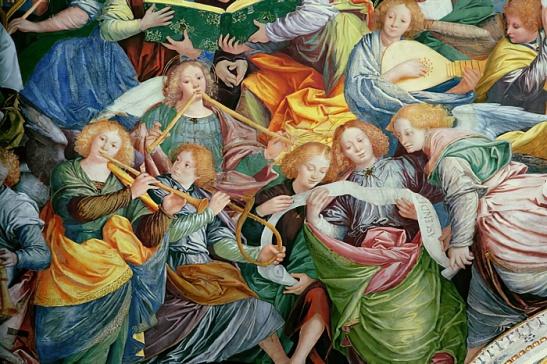 Gaudenzio Ferrari - The Concert of Angels 1534-36 fresco detail of 175782 - (MeisterDrucke-356071)
