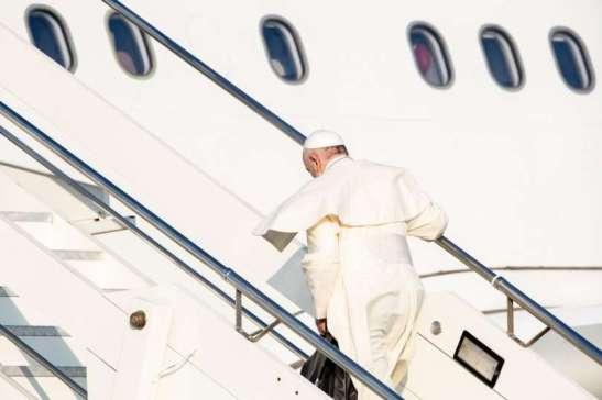 Papa Francesco in partenza per il suo viaggio internazionale in Mozambico, Madagascar e Maurizio, 4 settembre 2019
