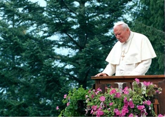 Giovanni Paolo II a Lorenzago di Cadore nel luglio 1998