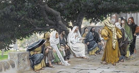 Brooklyn_Museum_-_The_Pharisees_and_the_Saduccees_Come_to_Tempt_Jesus_Les_pharisiens_et_les_saducéens_viennent_pour_tenter_Jésus_-_James_Tissot_-_overall-1